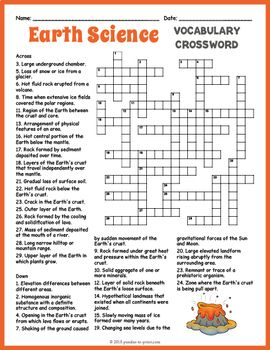 graphic about Science Crossword Puzzles Printable called Planet Science Crossword Puzzle Crosswords for Youngsters