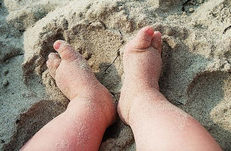 baby toes in the sand!