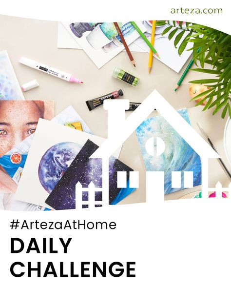 Need some motivation to keep drawing? Join the #ArtezaatHome Daily Arteza Art Challenge and stretch those creative muscles! Make sure to check out the blog for more details about the challenge!