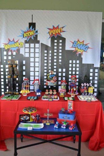 Grandiosa Decoracion Para Cumpleaños De Avengers Cumpleaños De Los Vengadores Fiestas De Cumpleaños Marvel Fiesta De Los Vengadores