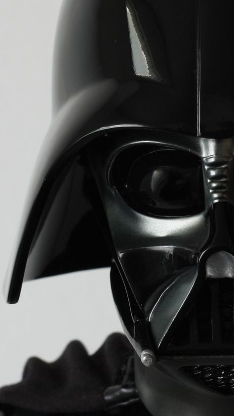 Just Vader's helmet, you say? I think not. This completely embodies the inner struggle of good v. evil (Light v. Dark Side) Anakin constantly has to live with, being the Chosen One. The high contrast photo is a metaphorically brilliant idea!