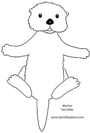 Image Result For Do Unto Otters Template Coloring Pages Otters Otter Art