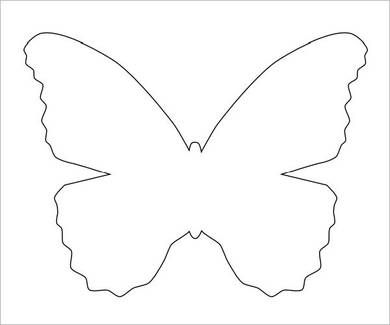 Printable Butterfly Template Butterfly Template Butterfly