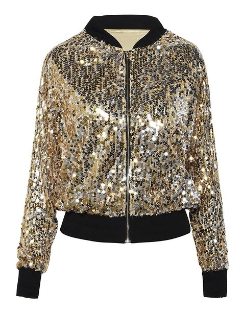 Women s Clothing, Active, Track   Active Jackets, Women s Sequin Blazer  Long Sleeve Clubwear b280ab1a1769