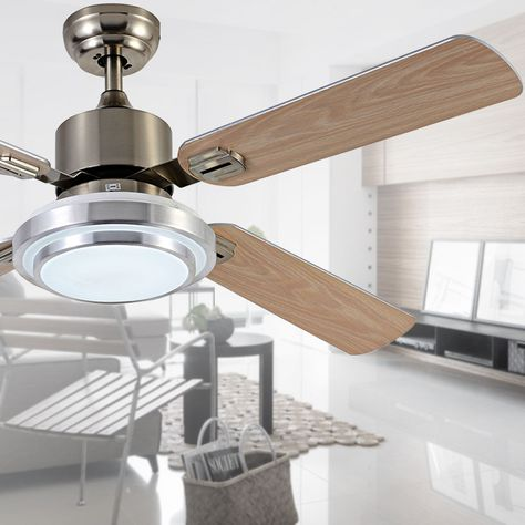Find More Ceiling Fans Information About Modern Silver Led Ceiling Fan 5207 Wood Blades Ceiling Fan Lights H Ceiling Fan Led Ceiling Fan Ceiling Fan With Light