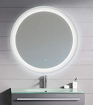Amazon Com Kaasun 26 Led Lighted Round Mirror Wall Mount Circle Illuminated Bathroom Vanity Mirror With Anti F In 2020 Wall Mounted Mirror Led Mirror Bathroom Mirror