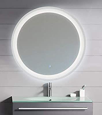 Amazon Com Kaasun 26 Led Lighted Round Mirror Wall Mount Circle Illuminated Bathroom Vanity Mirror With Ant In 2020 Led Mirror Wall Mounted Mirror Wall Mounted Light