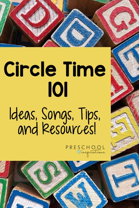 Circle Time 101 – Preschool Inspirations Preschool circle time tips and tricks from a veteran teacher! Find circle time ideas, activities, songs, and more to make your circle time a success! Special Education Activities, Childcare Activities, Movement Activities, Preschool Learning Activities, Preschool Curriculum, Preschool Printables, Kindergarten Circle Time, Circle Time Activities Preschool, Preschool Songs