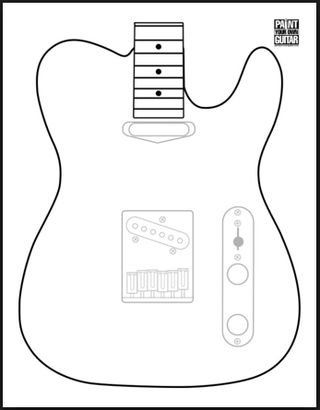 Printable Guitar Template Pdf