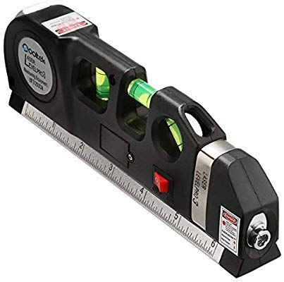 Qooltek Multipurpose Laser Level Laser Measure Line 8ft Measure Tape Ruler Adjusted Standard And Metric Rulers With Images Laser Levels Hanging Pictures Foot Measurement