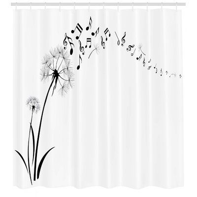 East Urban Home Ambesonne Music Shower Curtain Flying Dandelions