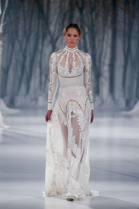 Paolo Sebastian 2016 Autumn - Winter Couture Wedding Dress Collection 'Snow Maiden'