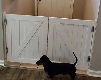 Barn Door Baby Gate Or Pet Gate Etsy In 2020 Barn Door Baby Gate Pet Gate White Painting