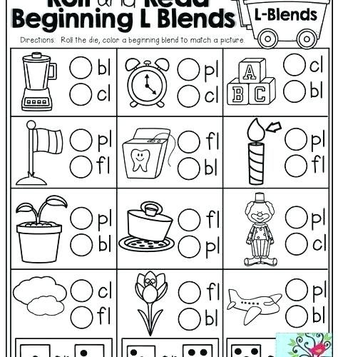 free worksheets consonant blends for grade 2 l phrases ...