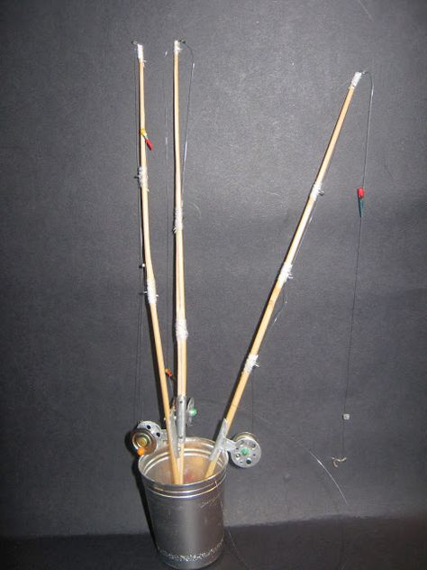 Bamboo rod and reel 1:10, step by step