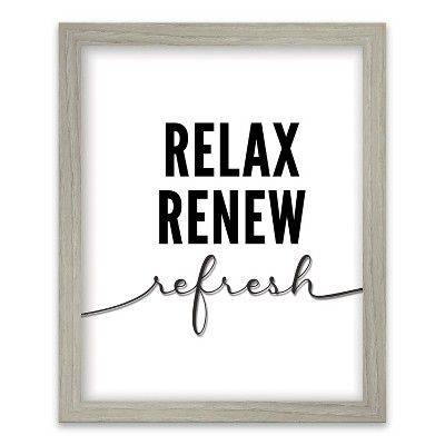 Relax Renew Refresh Screened Glass Poster Frame Threshold Multi Colored Poster Frame Wall Posters Printables Relax