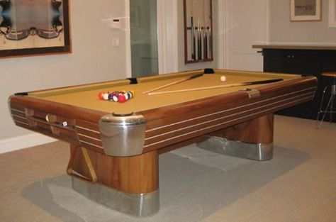 Beautiful Billiard Room With A 1940 Brunswick Pool Table Ideas Pinterest Tables And Accessories