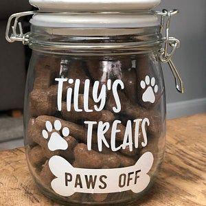 Personalised Dog Treat Jar