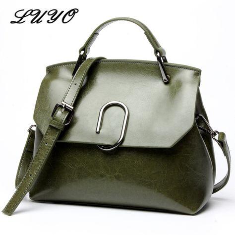 e9c07fcf47459 LUYO Fashion Genuine Leather Bag For Woman Luxury Handbags Women Bags  Designer Girl Shoulder Bag Female Famous Brand Doctor Review