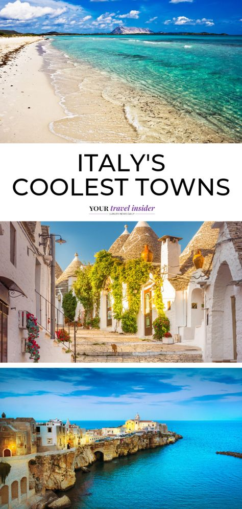 Have you been dreaming of an Italian getaway? Fascinating history, delicious food, and beautiful nature are some of the things that you will love about this destination. When planning a trip here, you'll want to visit the best spots. While Italy has many impressive cities to explore, don't ignore the interesting smaller towns. Check out Italy's coolest towns. - Your Travel Insider  #travelitaly #luxurytravel #traveldestinations