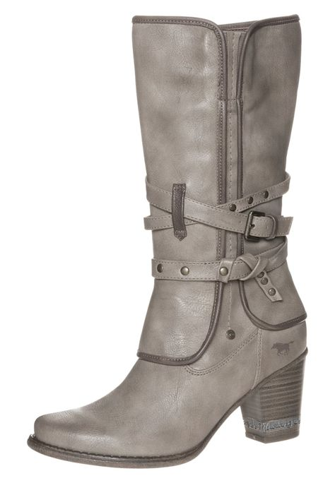 Mustang CowboyBiker boots taupe for £40.00 (250916