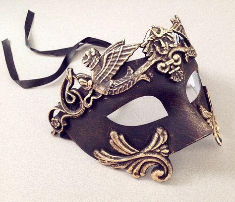 Bunny Fili A Stunning Filigree Metal Mask with Rabbit Ears Venetian Masquerade