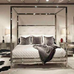 Bed Down Furniture Gallery Polished Stainless Steel Canopy