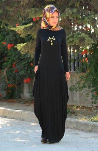 Siyah Tesettur Penye Elbise Modelleri Elbise Modelleri Elbise Moda Stilleri