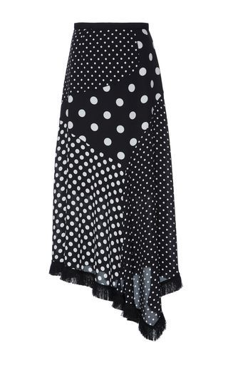 Attire For The Fall And Winter Polka Dot Asymmetrical Midi Skirt by Andrew Gn | Moda Operandi you can find similar pins below. We have brought the bes...  #mididress #outfitsmidi #pleatedskirt