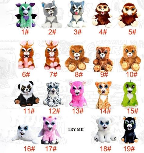 2017 Christmas List For Kids Feisty Pets Change Face 6 Bears 1