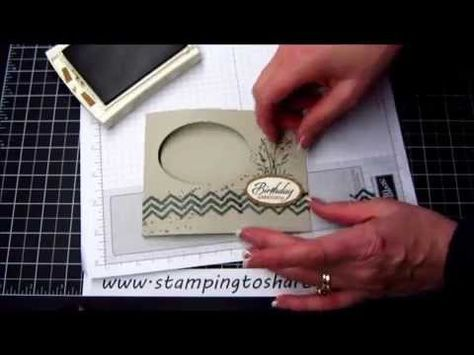 Masculine Birthday Card with a How To Video - Stamping To Share