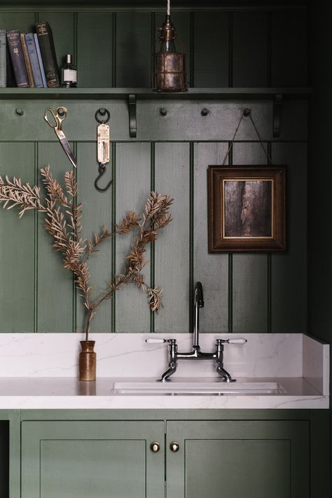 Lumière Lodge: A Couple's Thoughtfully Hued Antique Cottage Down Under - Remodelista Wabi Sabi, Washing Machine And Dryer, Cottage, Hanging Flowers, Victorian Homes, Cheap Home Decor, Decoration, Sweet Home, Interior Design