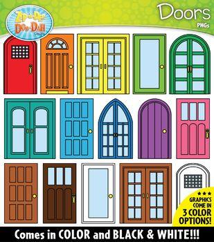 Doors Build A Room Clipart Zip A Dee Doo Dah Designs Portable Doll House Window Illustration Clip Art