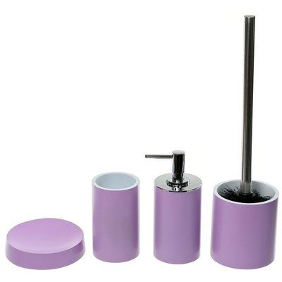 Latitude Run Parkgate 4 Piece Bathroom Accessory Set Colour Purple In 2020 Bathroom Accessories Sets Bathroom Accessories Lotion Soap Dispensers