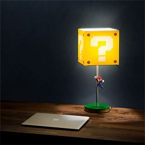 Super Mario Bros Jumping Mario Question Block Lamp This Or That