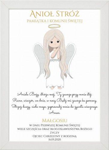 Aniol Stroz Pamiatka I Komunii Swietej Place Card Holders Place Cards Book Cover