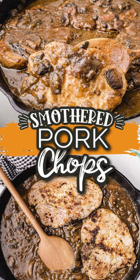If you're looking for a delicious and easy way to prepare pork chops, look no further. This recipe makes the juiciest smothered pork chops you will ever eat. Start by coating your chops with the perfect blend of seasonings, then pan-searing them up with a mushroom, onion, and garlic combo.