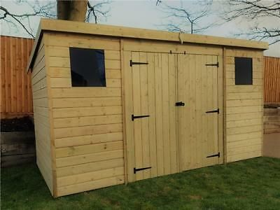 6ft X 2 6 Pent Roof Log Tool Storage Shed Outside Garden Store Double Door 6x3 347 94 In 2020 Wooden Garden Shed Garden Storage Shed