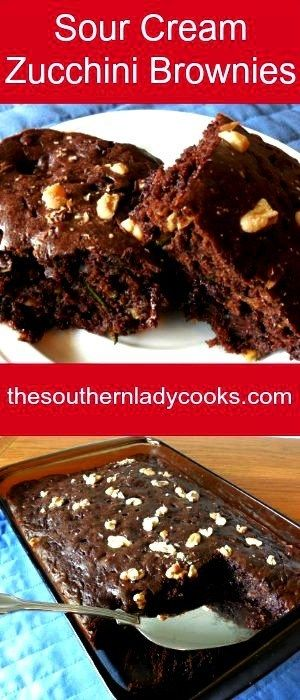 Sour Cream Zucchini Brownies The Southern Lady Cooks Cooking Cookies Zucchini Brownies Brownie Recipes
