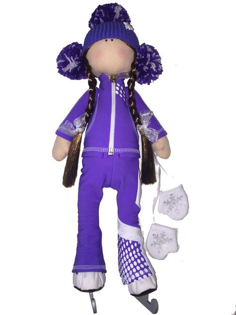 "Icedress Doll-skater in """"Euler"""" outfit (Purple)"