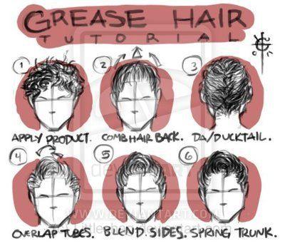 Danny Zuko Hair Tutorial Foto Video Grease Hairstyles Danny Zuko Hair Tutorial