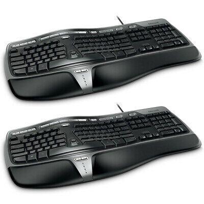 Microsoft Natural Ergonomic Keyboard 4000 2 Pack 882224015462 Ebay In 2020 Keyboard Microsoft Ergonomics