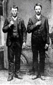 Jesse and Frank James (the James brothers) were two of the most famous outlaws known to the American west.     They hailed from Missouri. Frank lived from 1843-1915 and Jesse from 1847-1882. They had long careers as robbers and murderers. The boys were sympathetic to the Southern cause during the Civil War. Frank joined William Clarke Quantrill's band of guerrillas known as Quantrill's Raiders which operated on the Kansas-Missouri border. It was there that Frank befriended Cole Younger…
