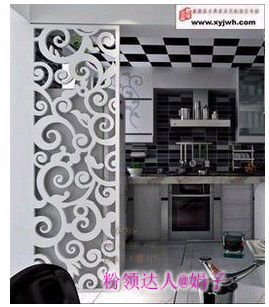 Chinese Fretwork MDF Closed Living Room Divider Black Carved Wooden Screens Getong Flower Engraved Plates