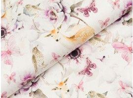 Baumwollstoff Batik helltürkis Modestoff Damenstoff Preis=0,5m