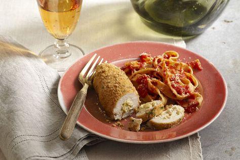 Rouleaux de poulet aux artichauts et au parmesan