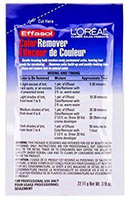 Amazon Com Loreal Effasol Color Remover 7 8oz Packet Hair Color Correctors Beauty Colour Remover Loreal Color Corrector