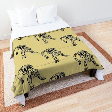 Tribal Leopard Klassik Tagesdecke Von Smaragddragon90 In 2020 Tagesdecke Decke Design