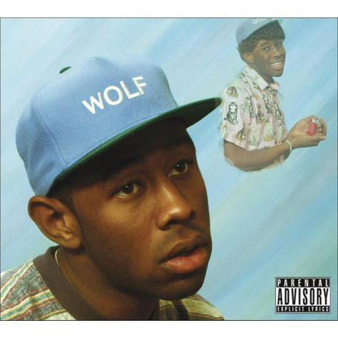"""Tyler the Creator, """"Wolf"""" Album Cover Art. This literally sells records. Rap Album Covers, Worst Album Covers, Music Covers, Iconic Album Covers, App Covers, Odd Future, Future Music, Photoshop, Wolf Album"""