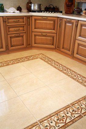 ceramic tile floors in kitchens  Kitchen Floor Tile Designs Ideas Flooring Concept Ceramic Stone Inspiration Pinterest